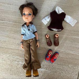 Boy Bratz doll & accessories